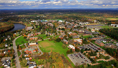 Aerial shot of Orono Campus