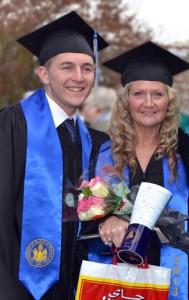 UMPI Grads Mom and Son