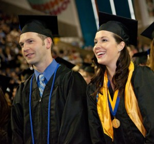 USM commencement 2 students