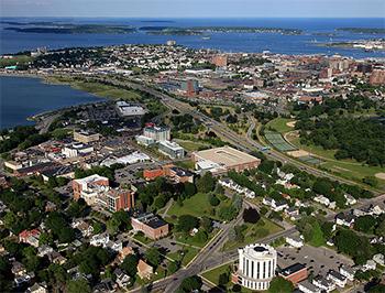 Aerial view of USM campus